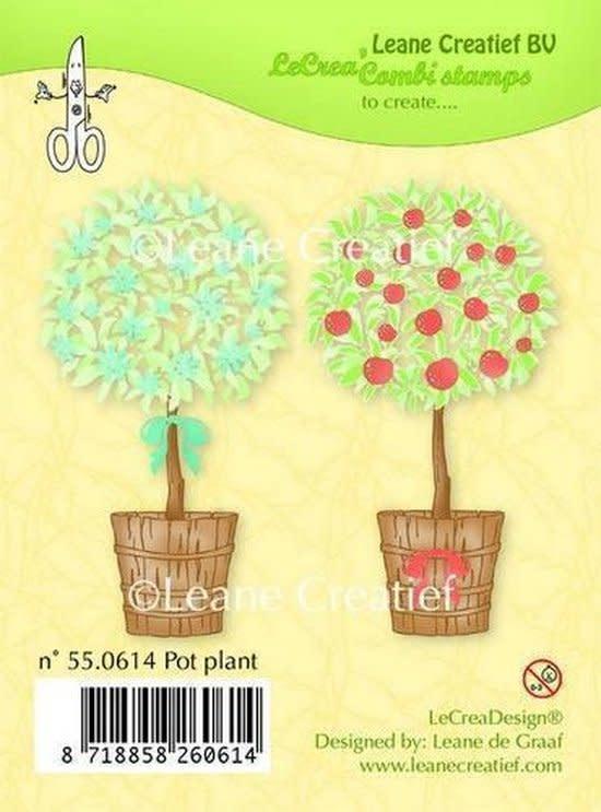 Leane Creatief - stempel Pot plant