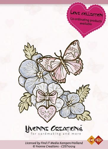 Yvonne creations clear stempel love collection butterfly