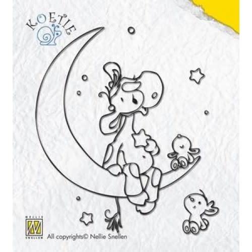 Nellie Snellen clear stempel koetie op maan