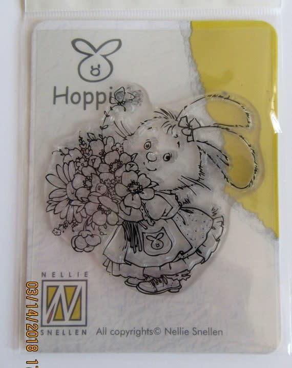nellie snellen clear stempel hoppie's flowers