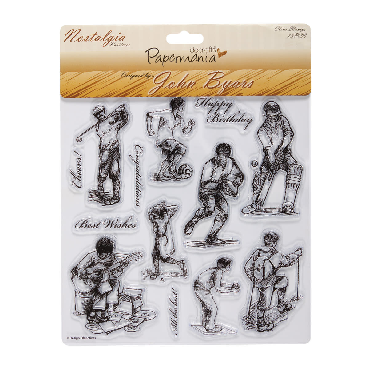 Papermania 8x8 clear stamps pastimes