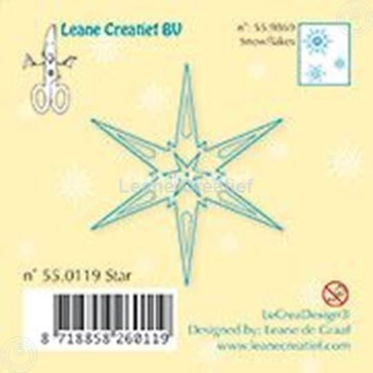 Leane creatief clear stamp star