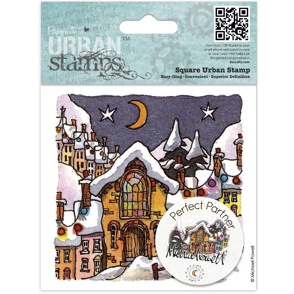 Urban stamps 4x4'' square night before christmas