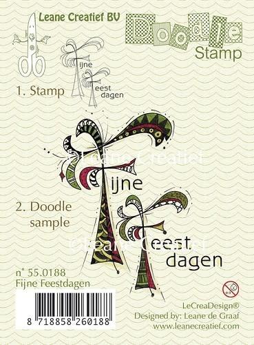 Doodle stamp fijne feestdagen