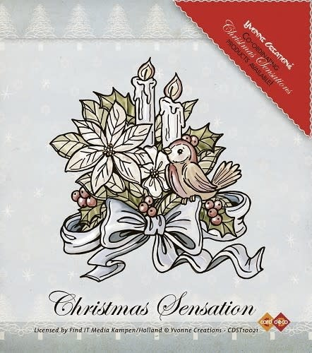 yvonne creation clear stamps christmas sensation