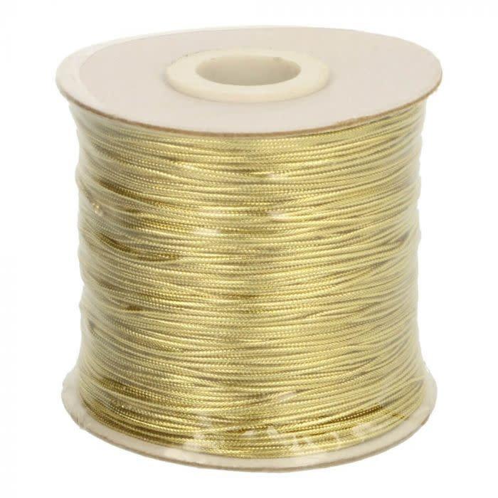 Koord metallic goud 1mm (per meter)