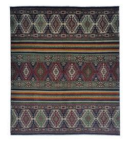 ZARGAR RUGS shal Hand knotted 9'7 x 8'1 wool kazak area rug 294x248 cm Oriental carpet