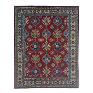 shal Hand knotted  9'10 x 8' wool kazak area rug 301x245 cm Oriental carpet