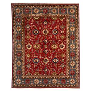 shal Hand knotted  9'10 x 8' wool kazak area rug  305x244 cm  Oriental carpet