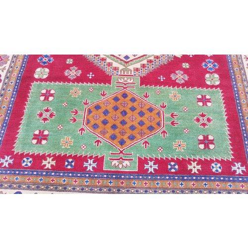 Handgeknoopt kazak tapijt  299x254 cm  oosters kleed vloerkleed