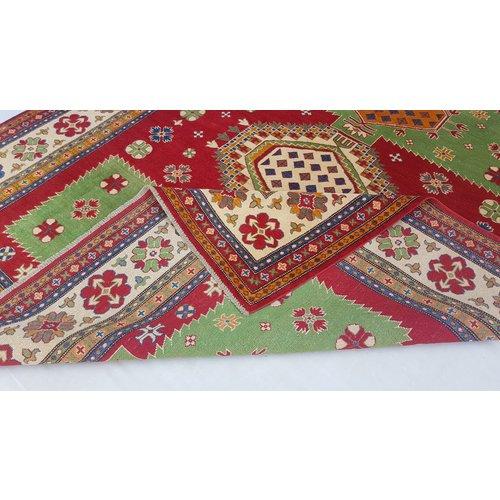 Handgeknoopt kazak tapijt  300x254 cm  oosters kleed vloerkleed