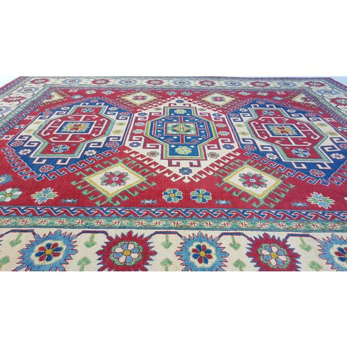 Handgeknoopt kazak tapijt  305x249cm  oosters kleed vloerkleed