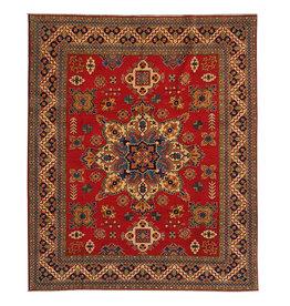 ZARGAR RUGS Hand knotted  9'8 x 8'  wool kazak area rug   292x245 cm  Oriental carpet