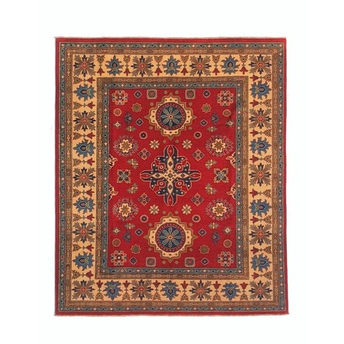 Hand knotted  9'8 x 8'1  wool kazak area rug  295x247cm Oriental carpet
