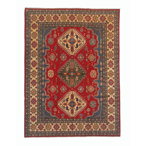 Hand knotted 10' x 7'11  wool kazak area rug  305x243 cm  Oriental carpet