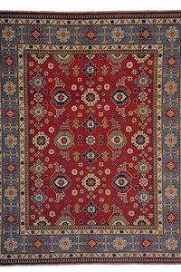 Hand knotted 9'11 x 8'  wool kazak area rug 304x245 cm  Oriental carpet