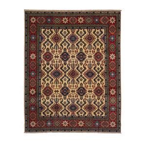 Hand knotted 10'4 x 7'10  wool kazak area rug  317x241 cm  Oriental carpet