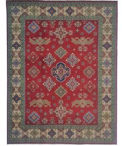 Hand knotted  10' x 8'   wool kazak area rug  306x246 cm   Oriental carpet