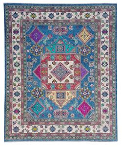Hand knotted  9'10x8'4   wool kazak area rug  300x256 cm   Oriental carpet