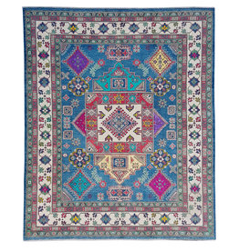 ZARGAR RUGS Hand knotted  9'10x8'4   wool kazak area rug  300x256 cm   Oriental carpet