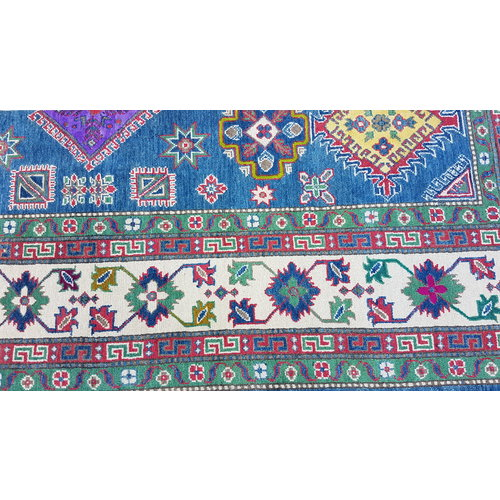 Handgeknoopt kazak tapijt 300x256 cm  oosters kleed vloerkleed
