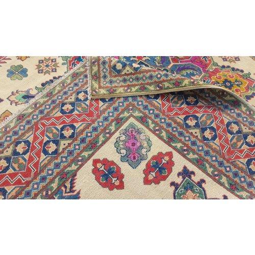 Handgeknoopt kazak tapijt 295x255 cm  oosters kleed vloerkleed