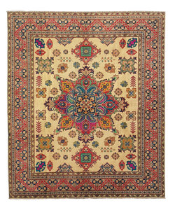 Hand knotted  9'8 x 8'4  wool kazak area rug   295x255 cm   Oriental carpet
