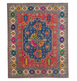 ZARGAR RUGS Hand knotted  9'11 x 8'  wool kazak area rug  304x244cm   Oriental carpet