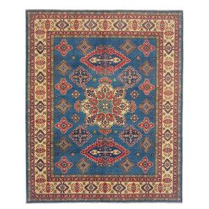 Hand knotted  9'7x8'1  wool kazak area rug   293x247 cm  Oriental carpet