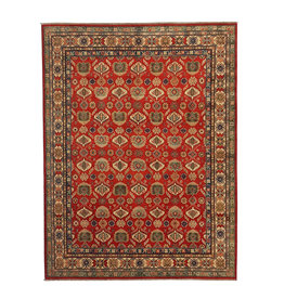 ZARGAR RUGS Hand knotted 9'11 x 8'  wool kazak area rug 304x245 cm  Oriental carpet