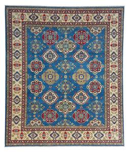Hand knotted  9'8x8'2  wool kazak area rug  295x250 cm   Oriental carpet