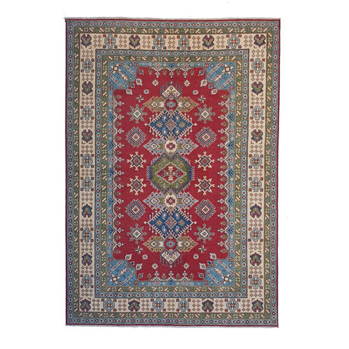 Handgeknoopt kazak tapijt 267x186 cm oosters kleed vloerkleed