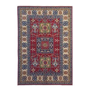 Handgeknüpft wolle kazak teppich 297x199 cm   Orientalisch  teppich