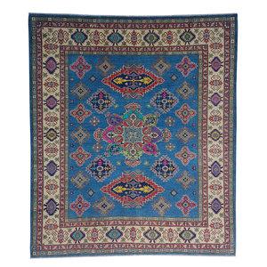 Hand knotted  9'5 x 8' wool kazak area rug  290x245 cm   Oriental carpet