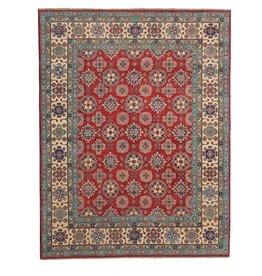 ZARGAR RUGS Hand knotted 9'6 x 8'  wool kazak area rug 295x251  cm  Oriental carpet