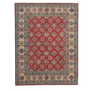 Hand knotted 9'6 x 8'  wool kazak area rug 295x251  cm  Oriental carpet