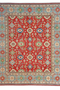 Handgeknoopt kazak tapijt 299x251 cm  oosters kleed vloerkleed