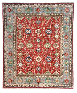 Hand knotted 9'8x 8' wool kazak area rug 299x251cm  Oriental carpet