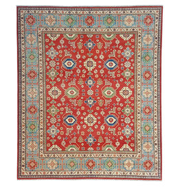 ZARGAR RUGS Hand knotted 9'8x 8' wool kazak area rug 299x251cm  Oriental carpet