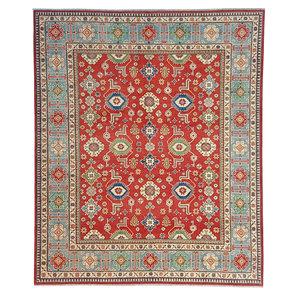 Handgeknüpft wolle kazak teppich 299x251 cm Orientalisch  teppich