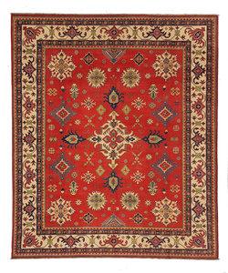 Hand knotted 9'8x 8' wool kazak area rug 300x254 cm  Oriental carpet