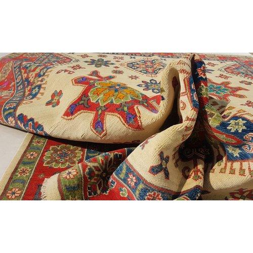 Hand knotted 10' x 7'9  wool kazak area rug 301x242 cm  Oriental carpet