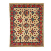 Handgeknoopt kazak tapijt 301x242 cm  oosters kleed vloerkleed