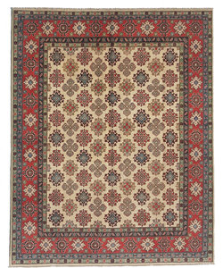 Handgeknoopt kazak tapijt 294x244 cm  oosters kleed vloerkleed