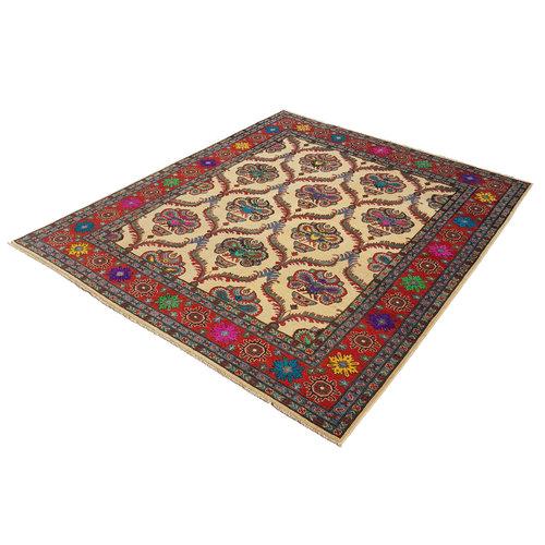 Handgeknoopt kazak tapijt 290x249 cm  oosters kleed vloerkleed