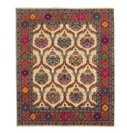 ZARGAR RUGS Hand knotted  9'5 x 8' wool kazak area rug  290x249 cm   Oriental carpet