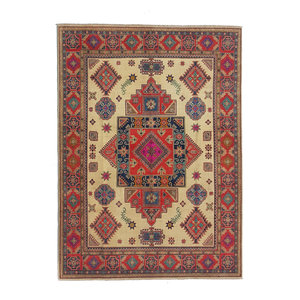 Hand knotted   10'x 8' wool kazak area rug  312x245 cm   Oriental carpet