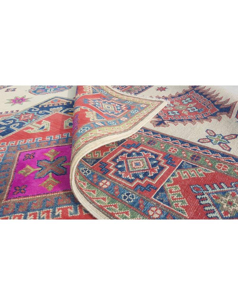 ZARGAR RUGS Hand knotted   10'x 8' wool kazak area rug  312x245 cm   Oriental carpet
