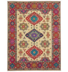 ZARGAR RUGS Hand knotted 9'11 x 8'  wool kazak area rug 304x247 cm  Oriental carpet