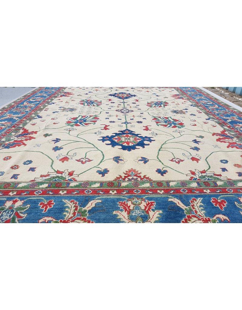 ZARGAR RUGS shal Hand knotted  11'8x 9' wool kazak area rug  360x275 cm  Oriental carpet